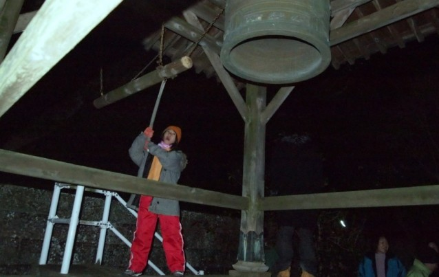 初詣 除夜の鐘つき